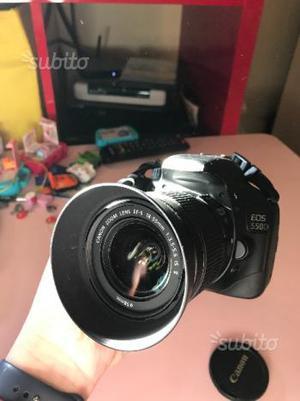Reflex Canon 550d con obiettivi e accessori