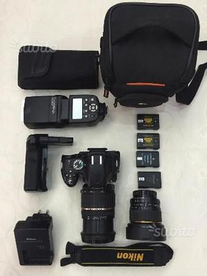 Reflex NIKON D + Obiettivi e tanti accessori