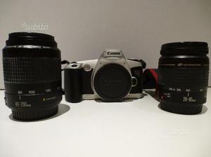 Reflex analogica Canon 500n + 2 obiettivi e borsa