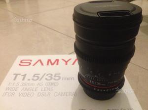 Samyang 35mm/T1.5 AS UMC. Canon Lens Mount Cine EF