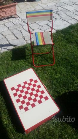 Tavolino e sedia da picnic