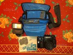 Zenit 122 macchina fotografica + flash