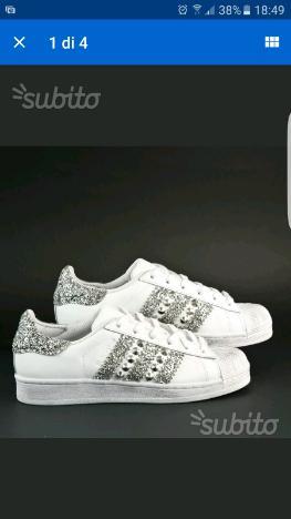 Adidas personalizzate glitter svaroski borchie | Posot Class