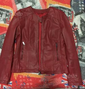 cappotto rosso donna conbipel cantu