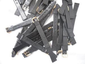 Lotto di n.20 cinturini in vera pelle con fibbia d