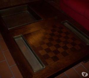 Fantastico tavolo costruito con travi di posot class for Tavolo espandibile