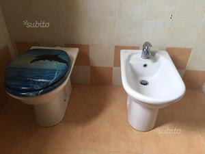 Sanitari wc bidet lavabo champagne beige crema posot class for Bidet ideal standard