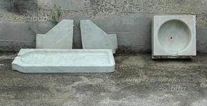 Lavandino vintage in marmo di carrara