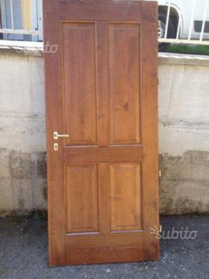 Portone ingresso legno massello