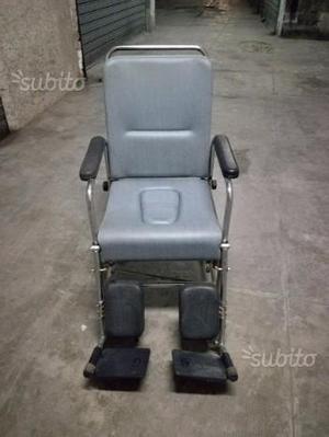 Sedia a rotelle elettrica per disabili posot class for Sedia a rotelle reclinabile