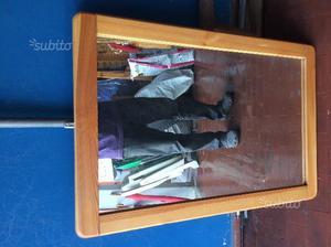 Specchio con cornice in Legno di Pino massello