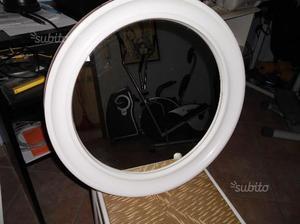Specchio tondo bianco