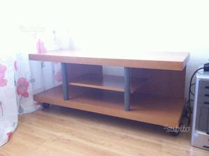 Mobile contenitore tavolino con rotelle cubo di posot class - Porta tv con rotelle ...