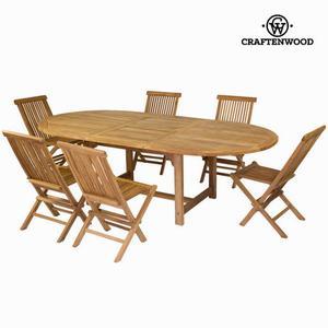 Tavolo Estensibile E 6 Sedie By Craften Wood
