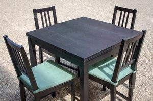 Tavolo molteni legno ciliegio allungabile con posot class - Ikea tavolo con sedie ...