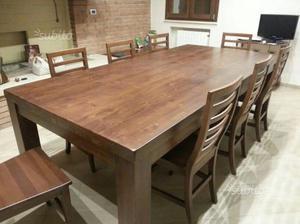 Panca e super tavolo allungabile per taverna in posot class - Tavolo con panca ad angolo moderno ...