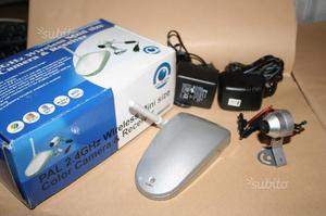 VideoCamera PAL 2.4GHz Wireless receiver 4 canali