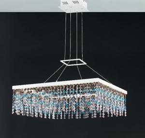 Led-luxury-sq70 - Lampadario A Sospensione Con Luci Led