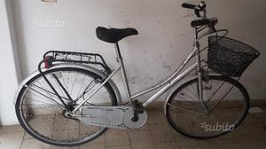 Bicicletta da donna vintage da 26 grigia con cesto