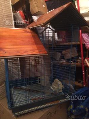 Antica gabbia per uccelli in legno e ferro posot class for Altalena legno usata