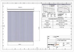 Pannello Solare Termico Peso : Scaldabagno solare litri a tubi sottovuoto posot class