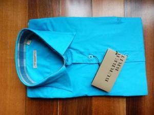 camicia uomo burberry nuova originale turchese taglia large