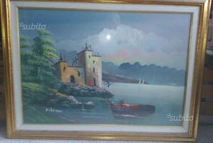 5 dipinti olio su tela incorniciati di varie misur