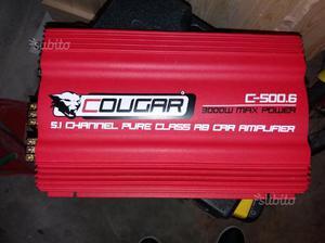 Amplificatore cougar 6 canali da 75 watt rsm