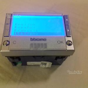 Cronotermostato bticino hc posot class for Termostato bticino living istruzioni