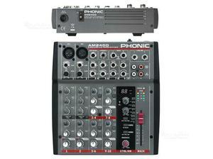 Phonic am240d mixer audio passivo 6 canali con eff
