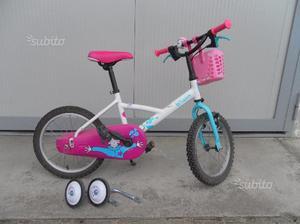"Bicicletta bambina 16"" Btwin decathlon"