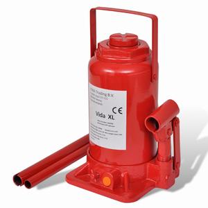 vidaXL Cric idraulico 20 Tone rosso carrello sollevatore