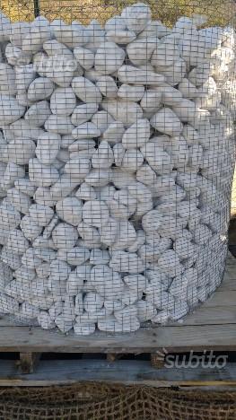 Ciottoli da giardino bianco carrara in ceste posot class for Ciottoli bianchi giardino prezzo