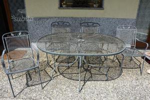 Set da giardino in ferro tavolo e sedie posot class - Tavolo ferro battuto giardino ...