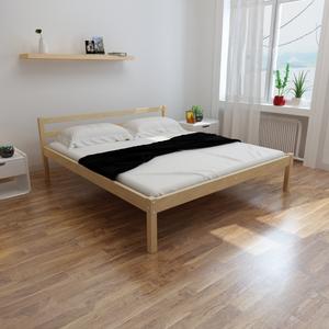 vidaXL Letto in legno di pino 200 x 180 cm + Materasso