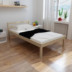 vidaXL Letto in legno di pino 90 cm + Materasso