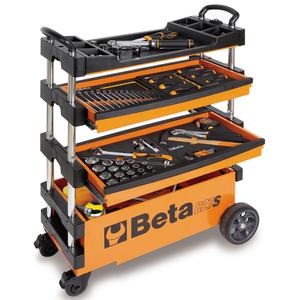Beta Tools Carrello portautensili pieghevole C27S-Oacciaio