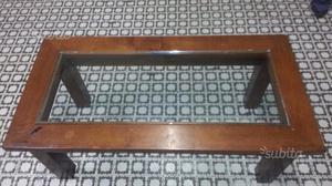 C73 - tavolino da soggiorno in massello e vetro