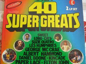 Doppio disco 40 original stars 40 super greats vin