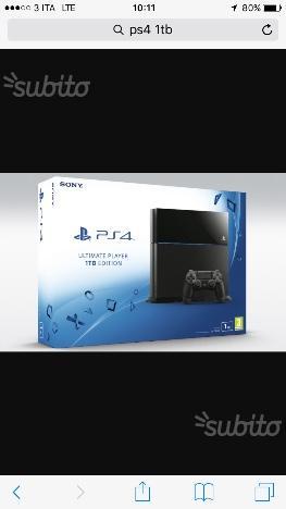 PlayStation 4 1Tb con 3 giochi tutto nuovo