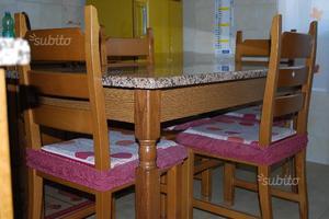 Top marmo per cucina piu marmo per tavolo posot class - Tavolo cucina marmo ...