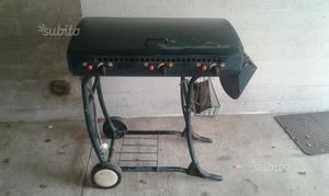 Griglia barbecue a gas e carbonella