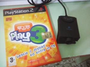 Telecamera eye toy + gioco eye toy play 3 per ps2