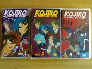 KOJIRO Lo spirito del vento (S.Araki) 3 VHS NUOVE