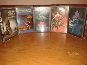 Ozzy Osbourne lotto 11 audio cassette SPED GRATIS