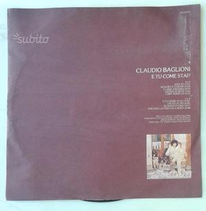 """Disco Claudio Baglioni """"E tu come stai?"""""""