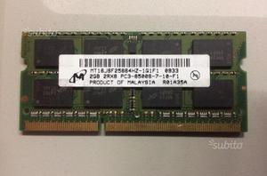 Memoria RAM 2GB Mt8jsfhz-1g1f1 2GB 1rx8 pc3