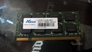 Memoria asint 2gb ddr2 RAM per notebook