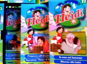 Serie completa VHS Heidi, 26 cassette e giornalett