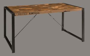 Art.GR01 Tavolo Industrial in ferro e legno